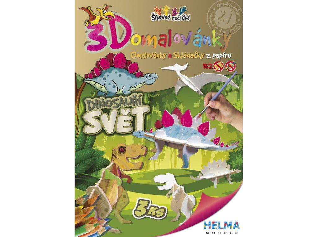 3D maľovanky Svet dinosaurov