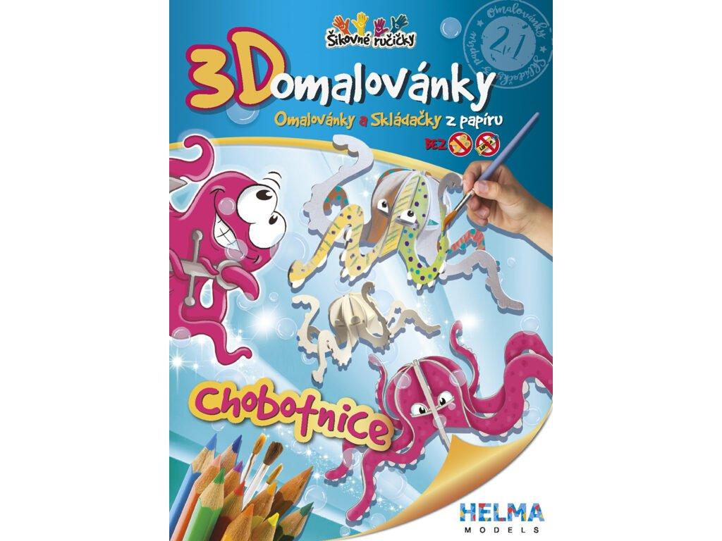 3D maľovanky Chobotnica