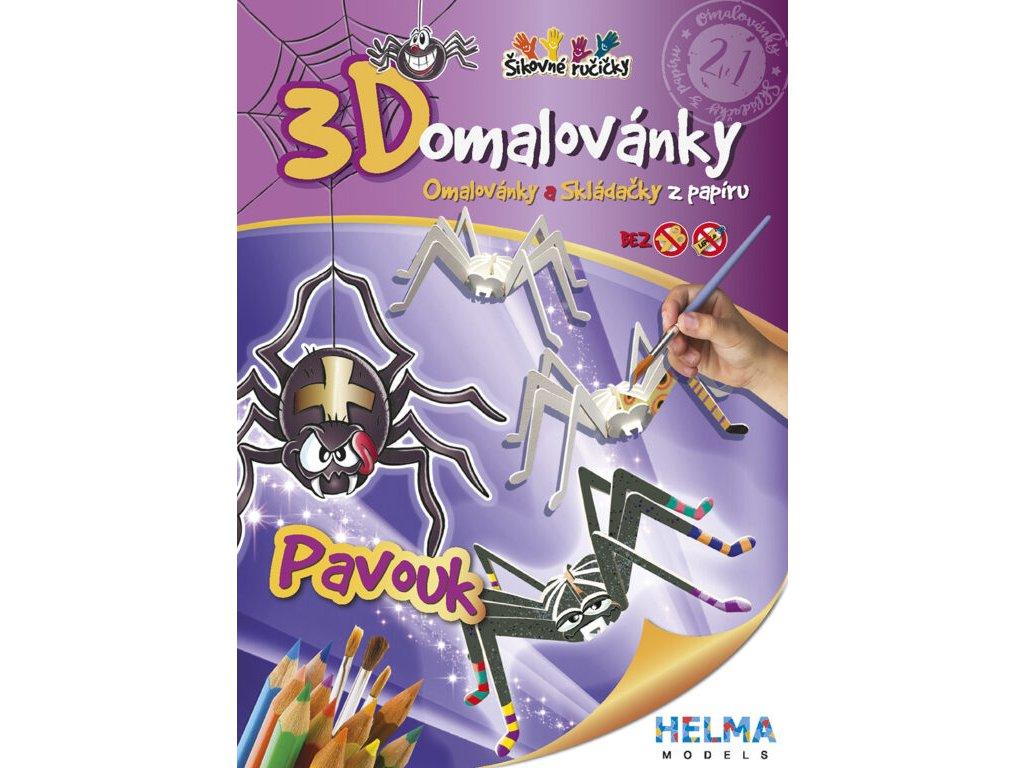 3D maľovanky Pavúk