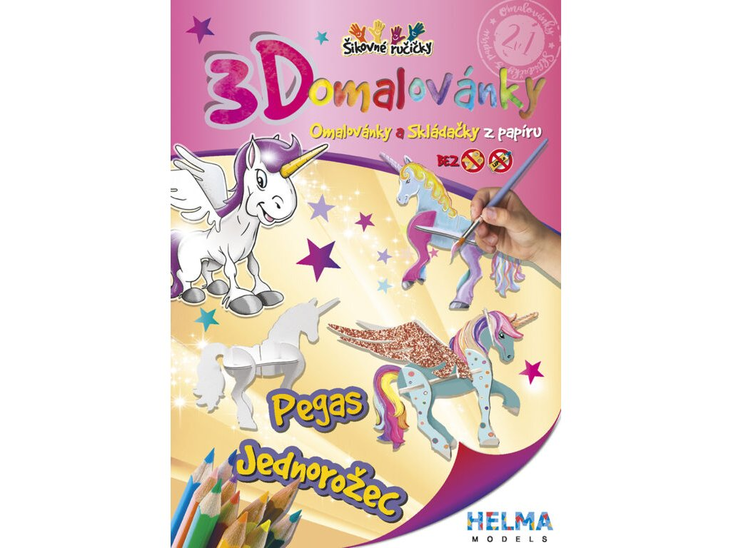 3D maľovanky Jednorožec a Pegas