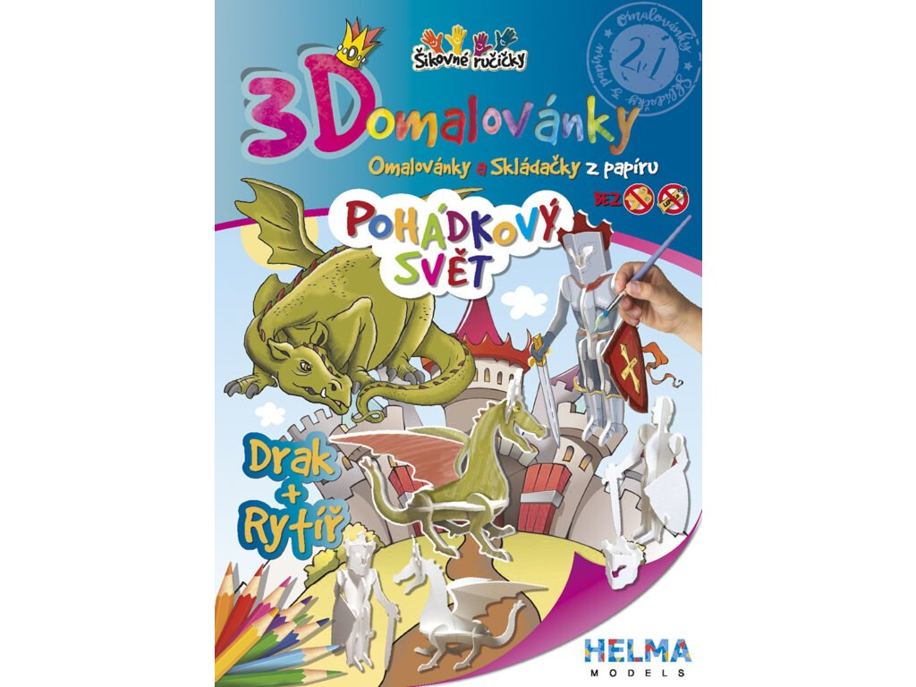 3D maľovanky Rozprávkový svet