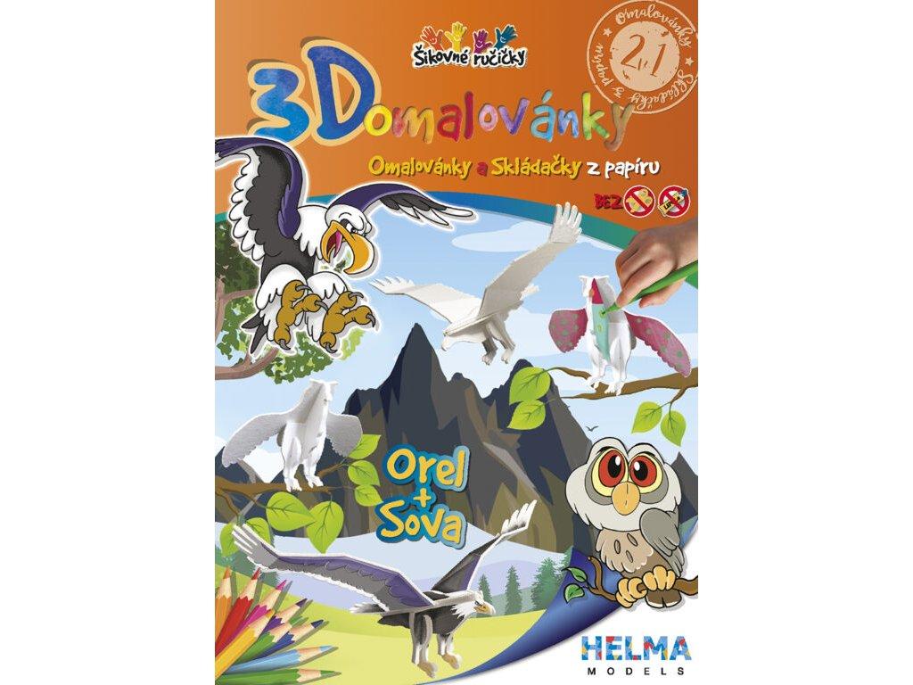 3D maľovanky Orol a sova