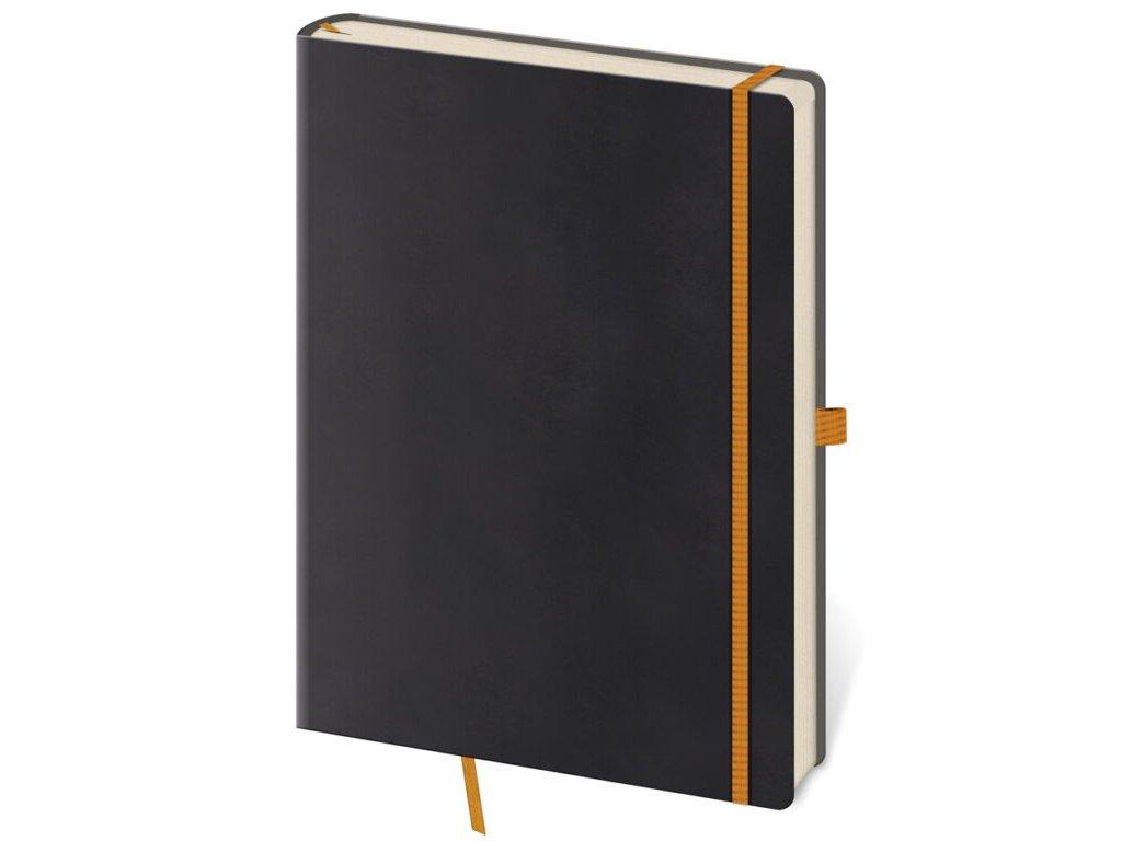 Zápisník Flexies L linajkový čierny