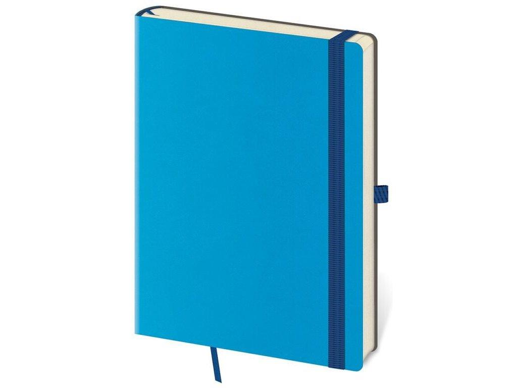 Zápisník Flexies L linajkový modrý
