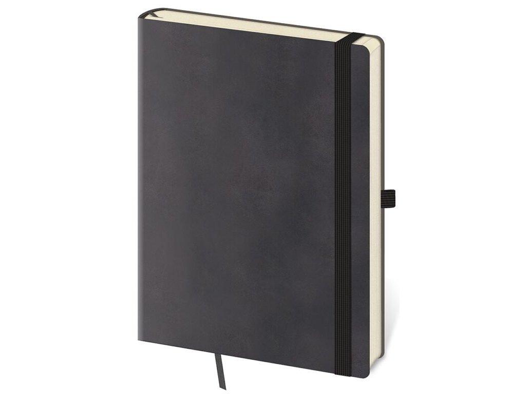 Zápisník Flexies L linajkový šedý