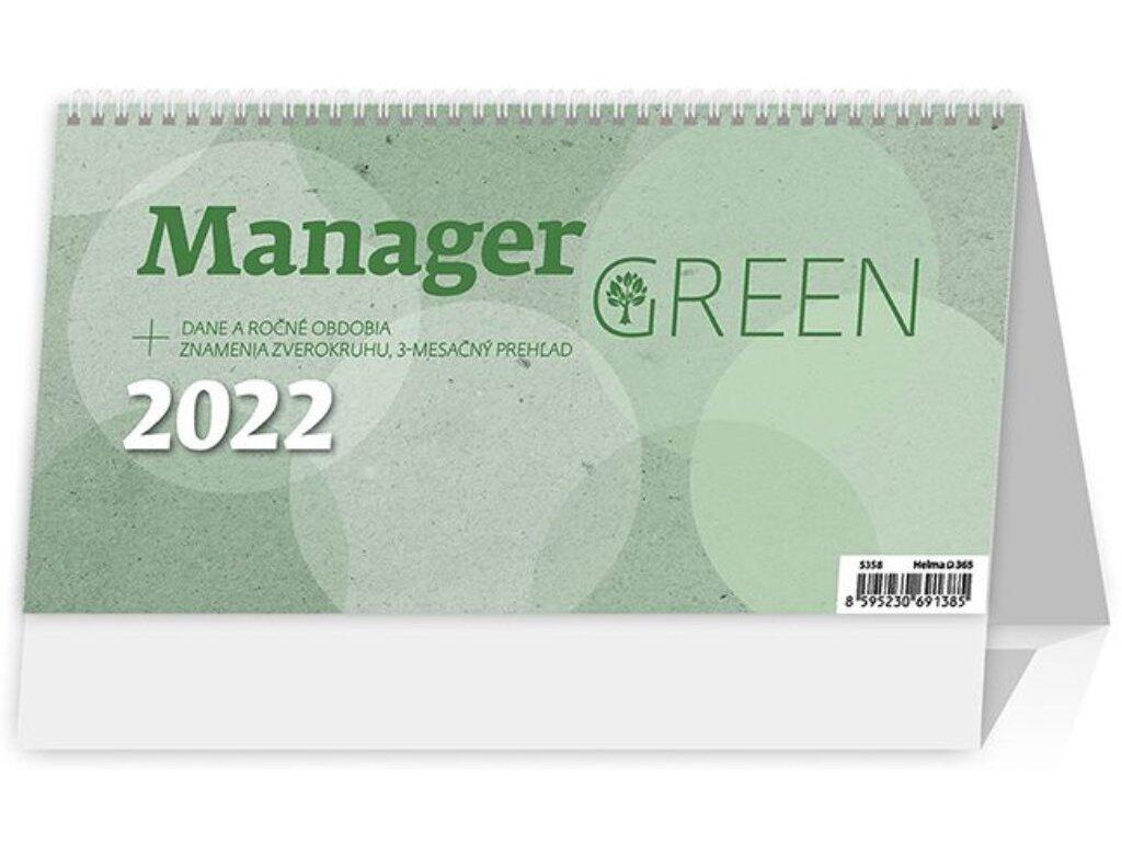 Kalendár Manager Green