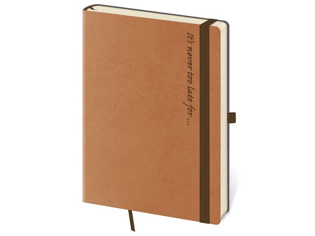 Zápisník Flexies L linajkový hnedý