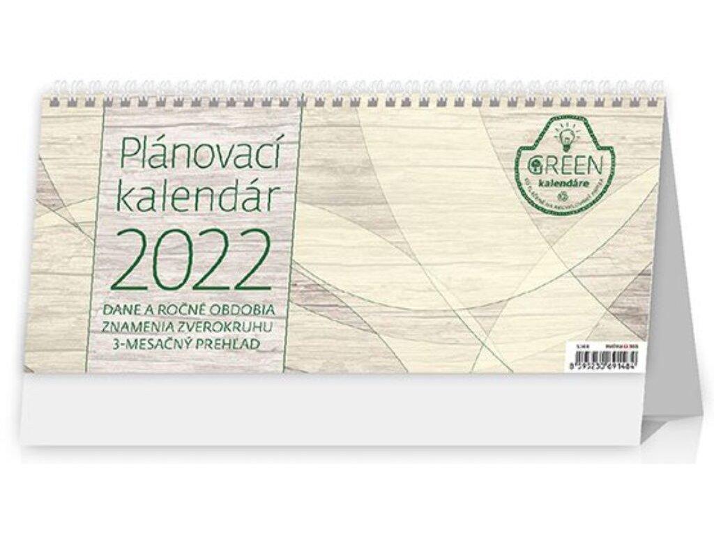 Plánovací kalendár GREEN