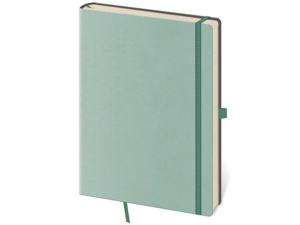 Zápisník Flexies L linajkový tyrkysový