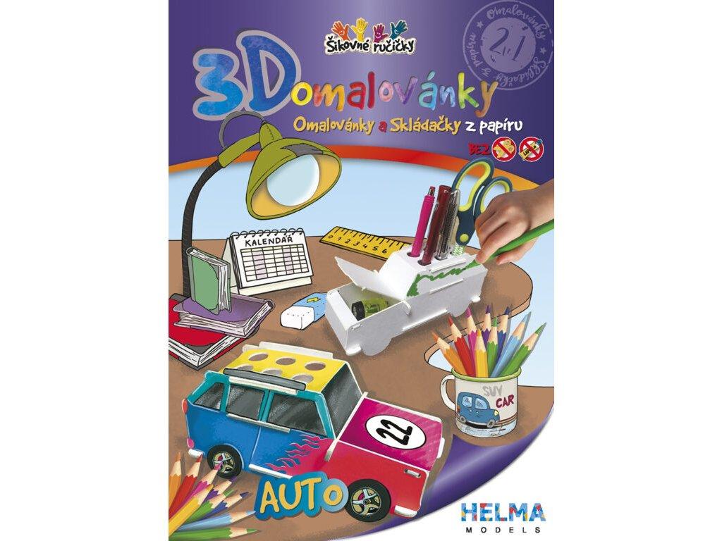 3D maľovanky Auto