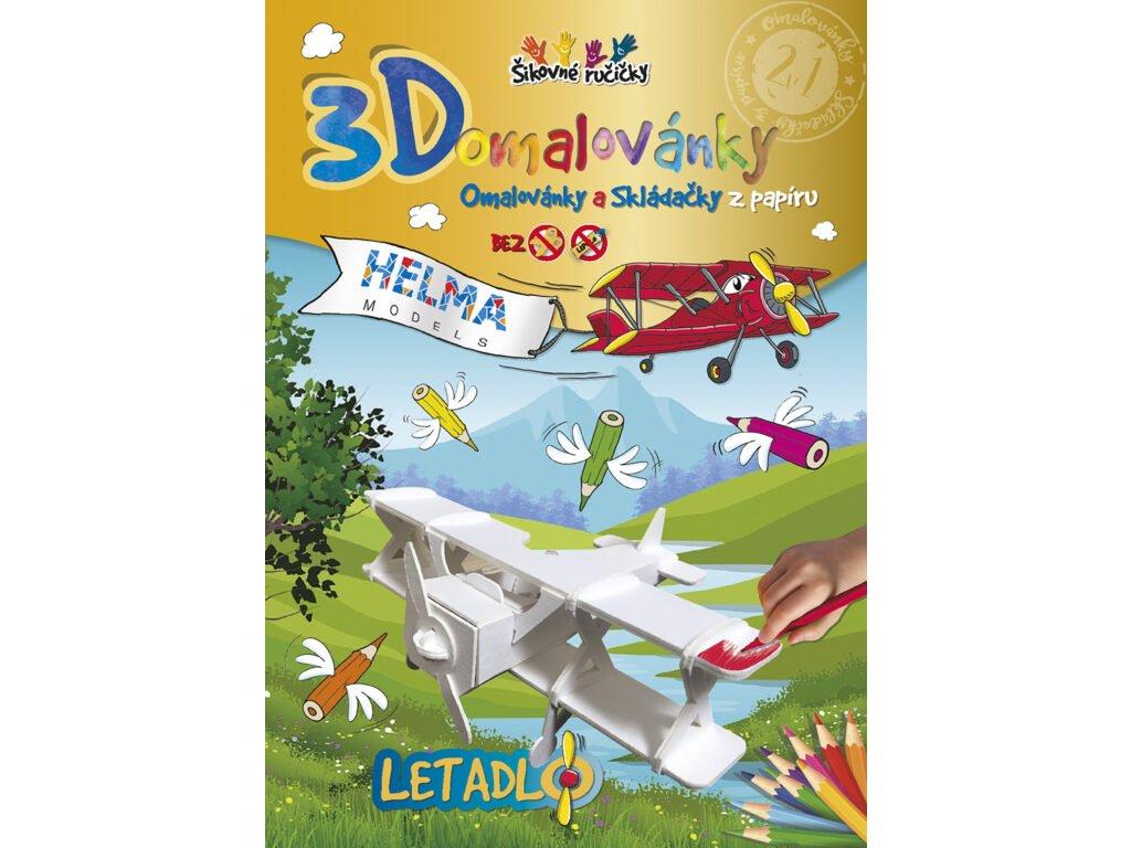 3D maľovanky Lietadlo