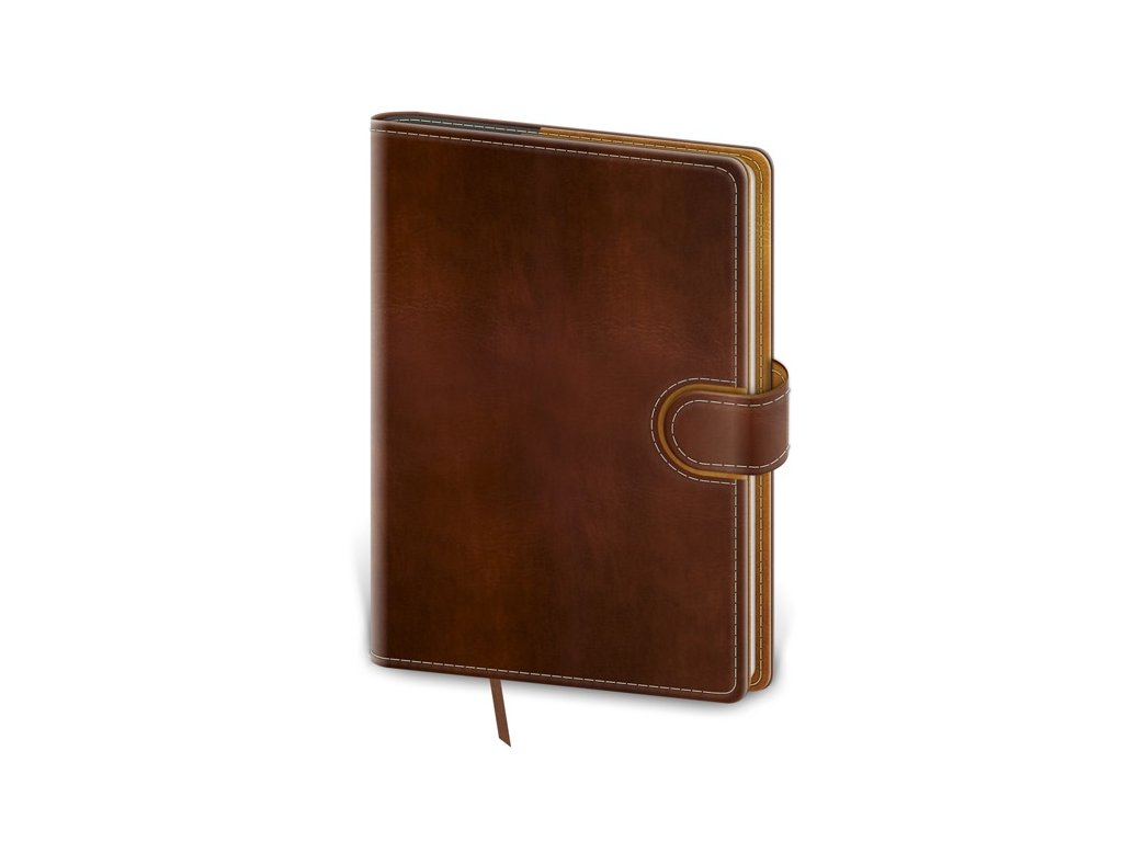 Zápisník Flip L bodkovaný hnedo/hnedý