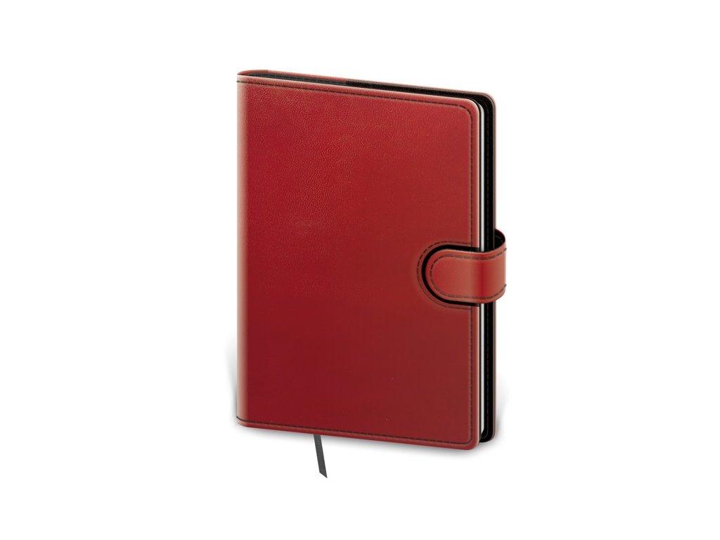 Zápisník Flip L linajkový červeno/čierny