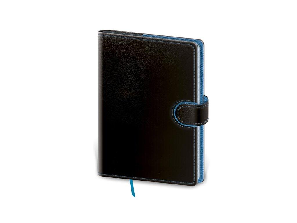 Zápisník Flip M bodkovaný čierno/modrý