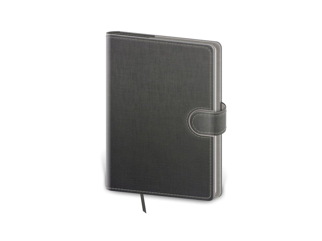 Zápisník Flip M bodkovaný šedo/šedý