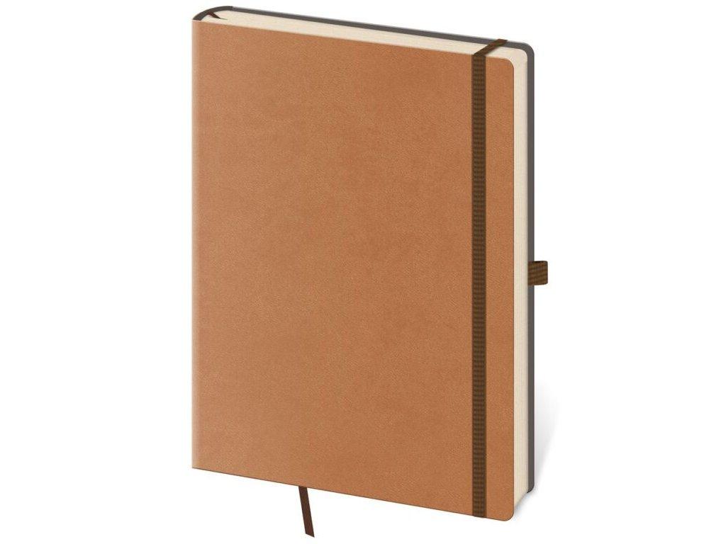 Zápisník Flexies M linajkový hnedý