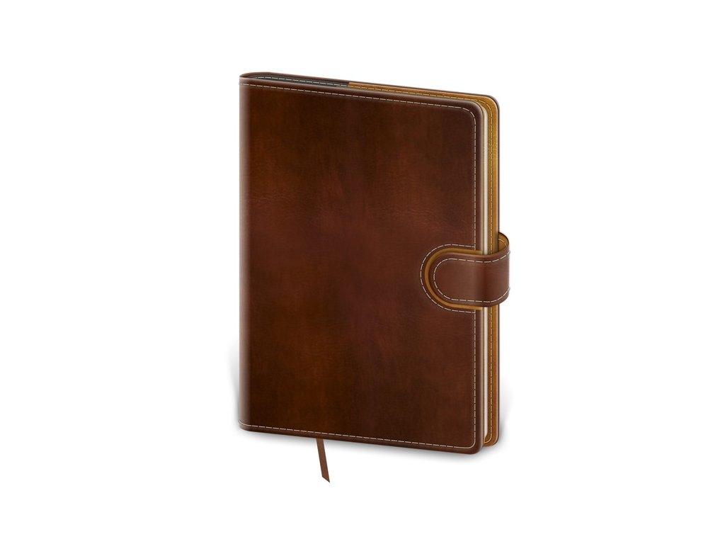 Zápisník Flip M linajkový hnedo/hnedý