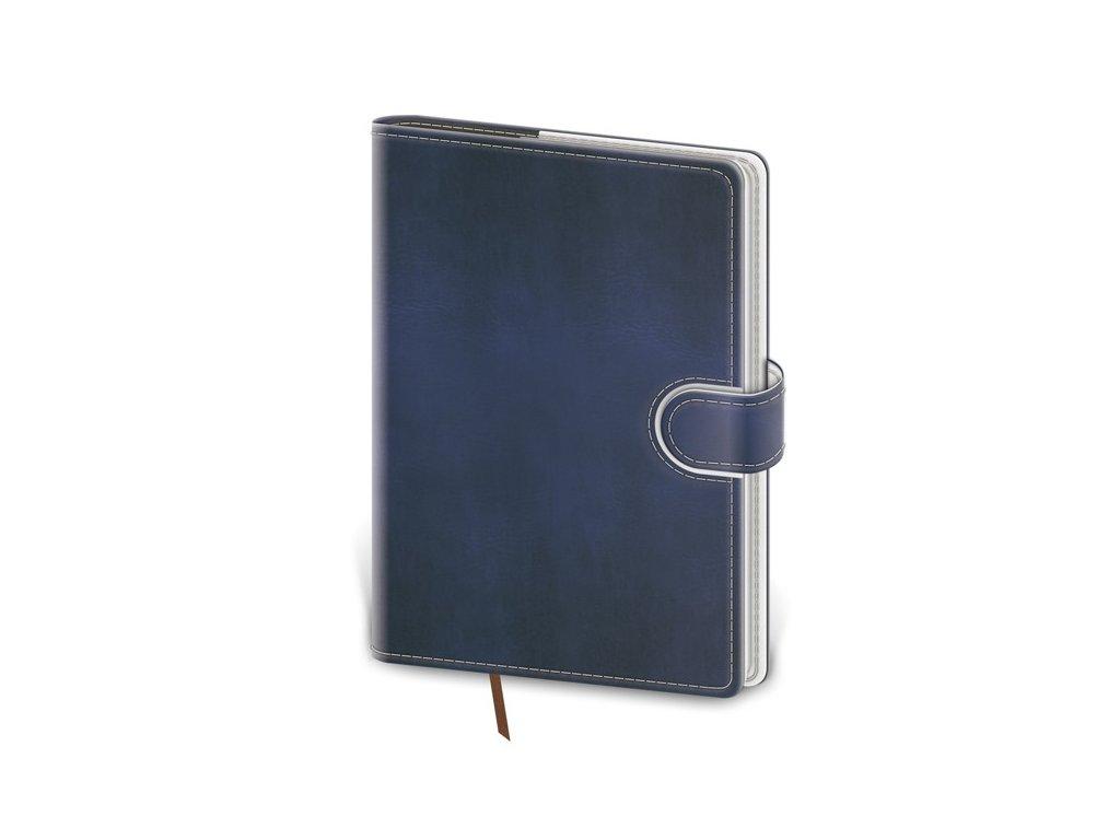 Zápisník Flip M linajkový modro/biely