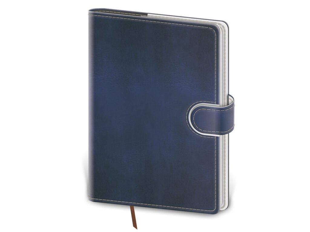 Zápisník Flip L linajkový modro/biely