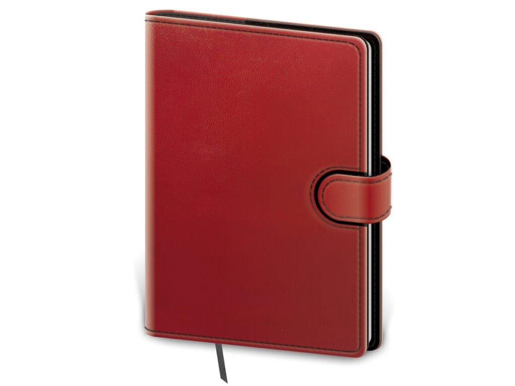 Zápisník Flip M linajkový červeno/čierny
