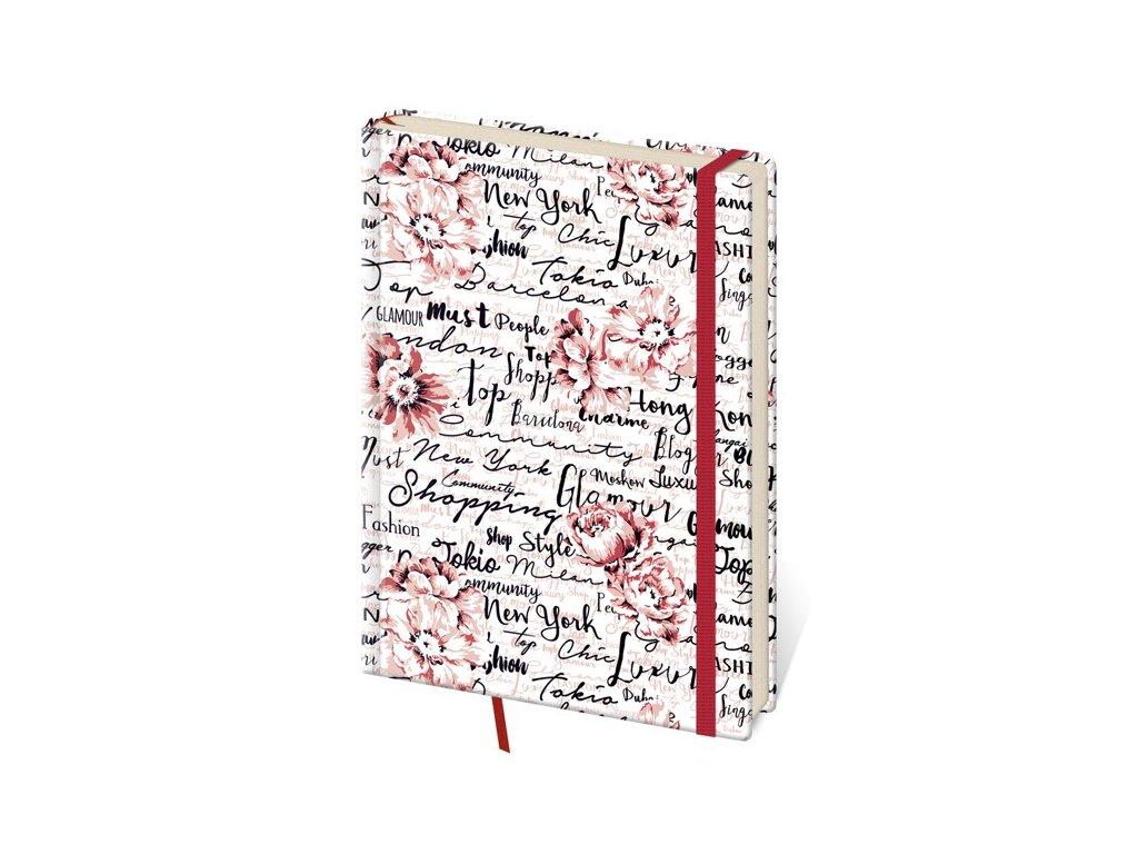 Zápisník Vario M linajkový design 7