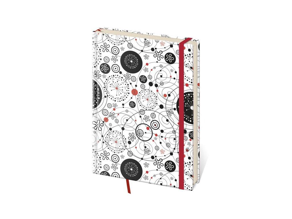 Zápisník Vario M linajkový design 9