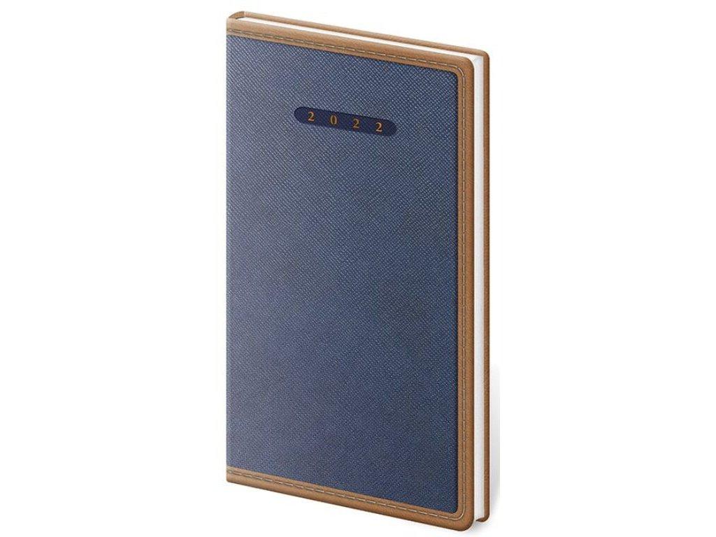Vreckový diár Elegant modro/hnedý