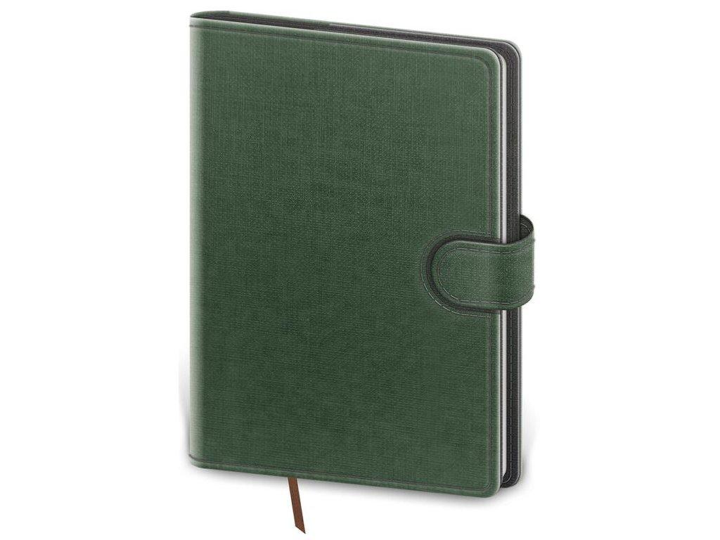 Denný diár B6 Flip zeleno/šedý