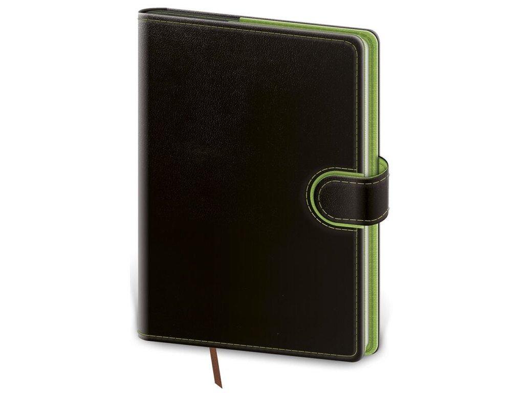Vreckový diár Flip čierno/zelený