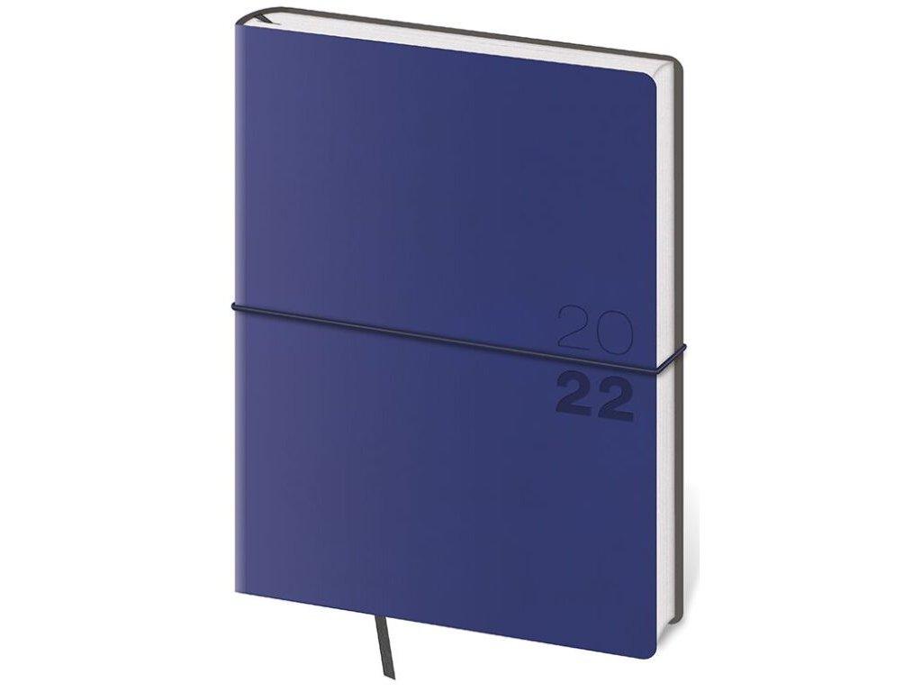 Týždenný diár B6 Flexio tmavo modrý s gumičkou