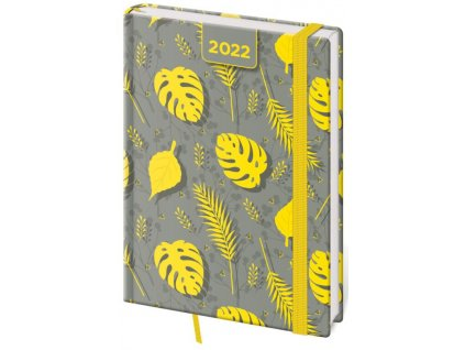 Denný diár A5 Vario Yellow s gumičkou