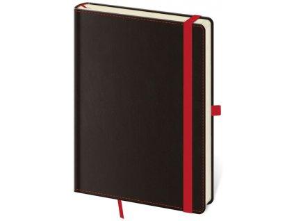 Zápisník Black Red L linajkový