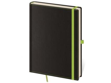 Zápisník Black Green M linajkový
