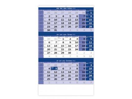 Trojmesačný kalendár modrý