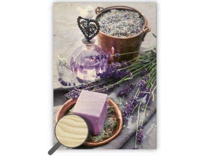 Drevený obraz Provence