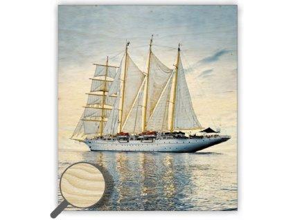 Drevený obraz Sailing