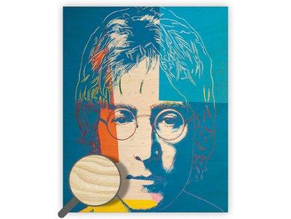 Drevený obraz John Lennon