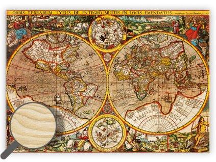Drevený obraz Antique Maps
