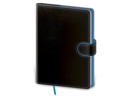 Zápisník Flip L čistý čierno/modrý