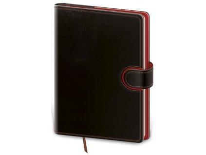 Denný diár B6 Flip čierno/červený