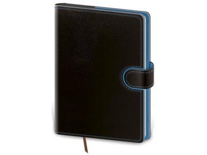 Denný diár B6 Flip čierno/modrý