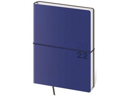 Denný diár A5 Flexio tmavo modrý s gumičkou