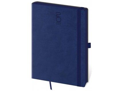 Denný diár A5 Memory tmavo modrý s gumičkou