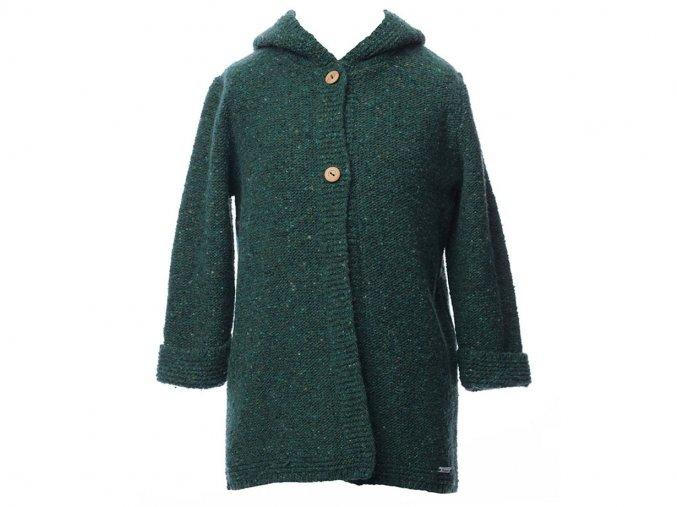 <p>Dětský pletený kabátek s ozdobnou dlouhou kapucí s bambulí, z mramorové příze. Velmi příjemný, měkký a teplý materiál, skvělé pro podzimní čarování :)</p>