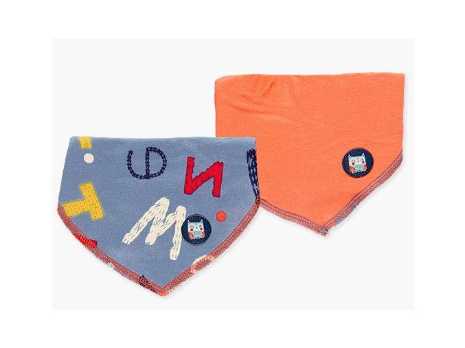 Barevný kojenecký bryndáček 2ks Boboli oranžový šedý1381709120 e