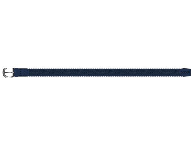 <p>Chlapecký textilní opasek z pružné a pevné keprové vazby v tmavě modré námořnické barvě. Koncovky z pevného semiše, s poutkem a tmavě metalickou přezkou v platinové barvě. Elegantní doplněk k svátečním kalhotám.</p>