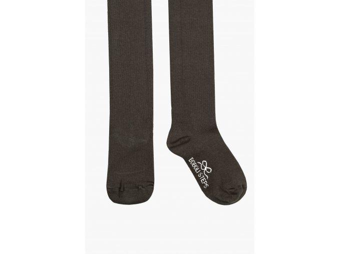 Dívčí punčocháče tmavé šedé antracit bavlněné Boboli