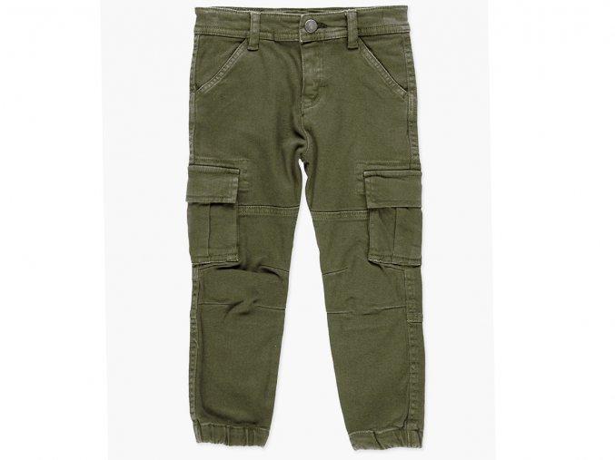 Chlapecké džíny kapsáče khaki hodně kapes zelené džínové kapsáče švy v koleni Boboli 5082494481 a