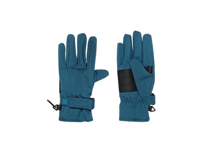 Softshellové prstové rukavice Tyrkys (Barva Tyrkysová, Velikost 12 Y)