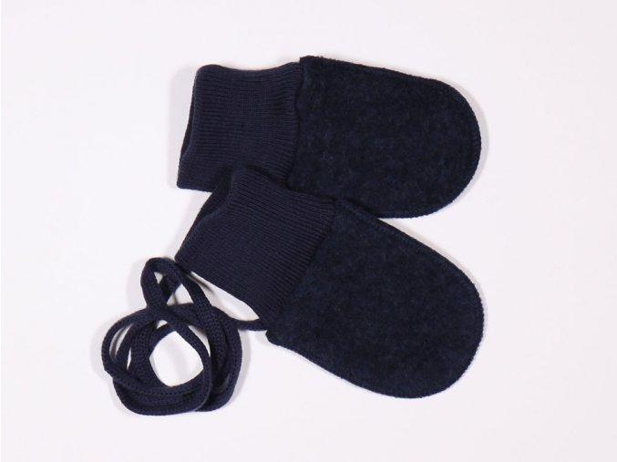 Vlněné rukavičky Navy (Barva Modrá, Velikost 6 M)